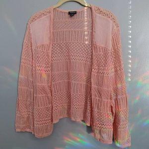 Torrid Pink Pointelle Knit Shrug sz 3
